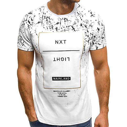 YpingLonk Camiseta de Manga Corta con Cuello Redondo y ...