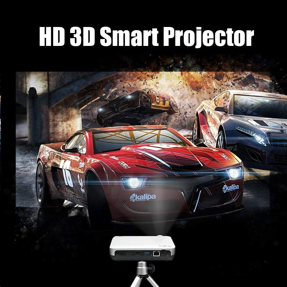 WOWOTO 3D Videoproyectores, 3500Lumens 1280x800 Resolución Proyector de vídeo HD, Android 4.4 OS, Proyector LED con Keystone, HDMI, WIFI & Bluetooth ...