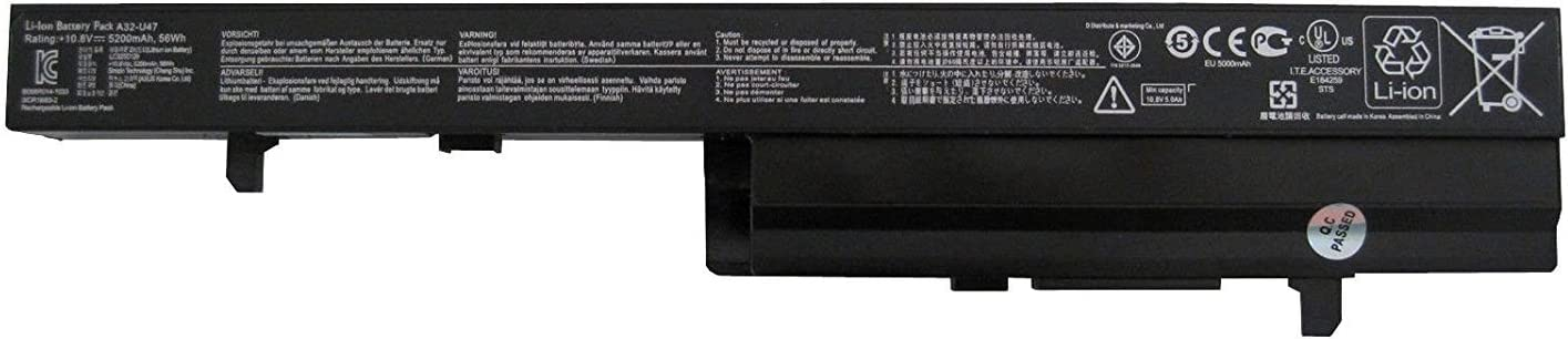 FLIW A42-U47 Replacement Battery Compatible with Asus U47 U47A Q400 Q400A Q400C U47C R404 U47V U47VC A32-U47 A41-U47 A42-U47 [10.8V 5200mAh 56Wh]