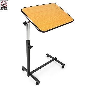 Amazon Com Jcmaster Overbed Table On Wheels Height Adjustable Tilt