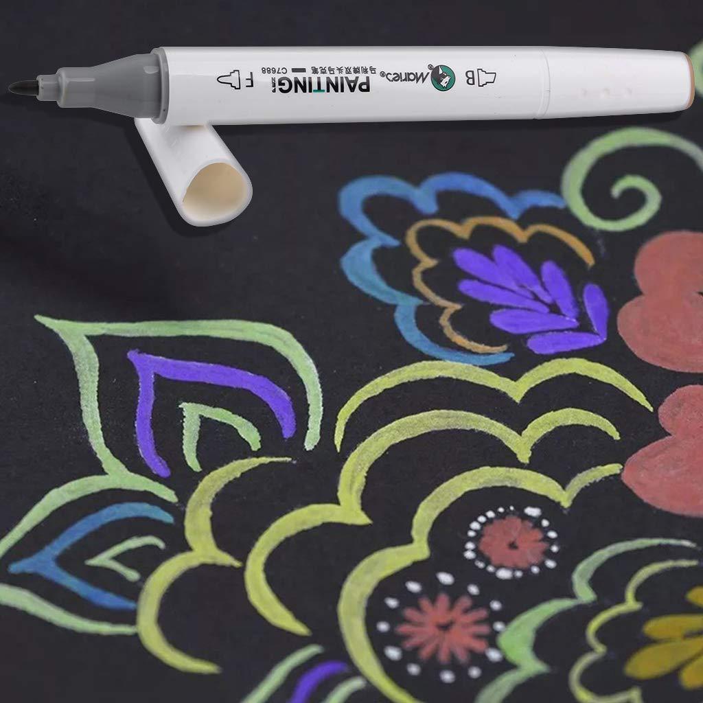 Disegni e Scrittura Punta Doppia 12 Colori Brush Pen con Pennarello Ultra Fine Marker Set per Disegno Manga Guestbook Non tossico Creazione Tessere Pennarelli Acquerelli Professionali