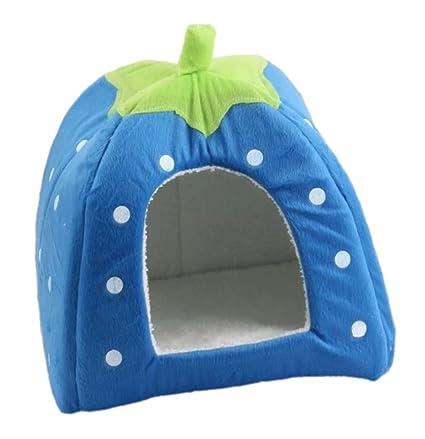 Wicemoon Casa de Mascotas Diseño de Fresa Perro Cama Gato Nido Suave Mascota Cama para Dormir