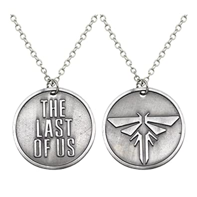 Amazon antique silver plated the last of us engraved and antique silver plated the last of us engraved and firefly round charm pendant necklace aloadofball Choice Image
