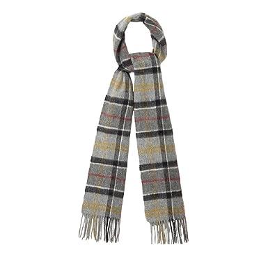 927cbdee05c Écharpe Barbour en laine de mérinos - Tartan - Cachemire - Gris - Taille  Unique