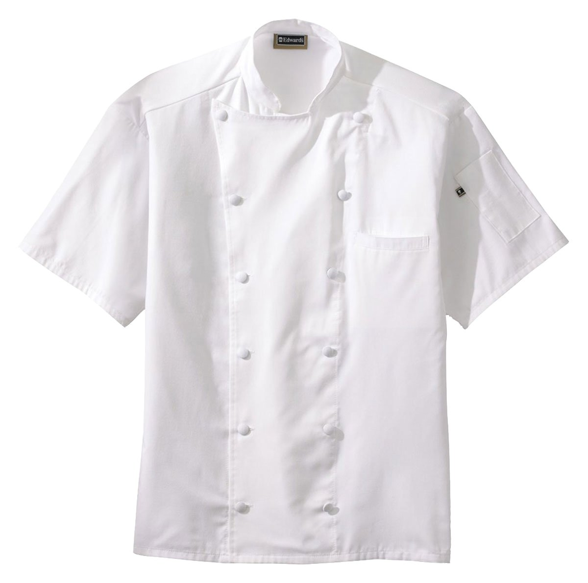 Ed Garments Classic Short Sleeves Chef Coat with Back Mesh, WHITE, Medium by Edwards Garment