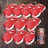 ミートガイ グラスフェッドビーフ リブアイステーキ10枚セット (270g×10枚+ステーキスパイス120g) Grass-fed Rib Eye Steak Set (270g×10pc+Steak Spice120g)