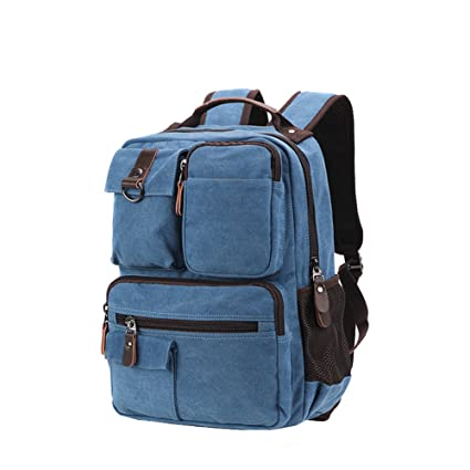 742dc27ec934 Amazon.com: Canvas Backpack, Toniker Canvas School Backpack Hiking ...