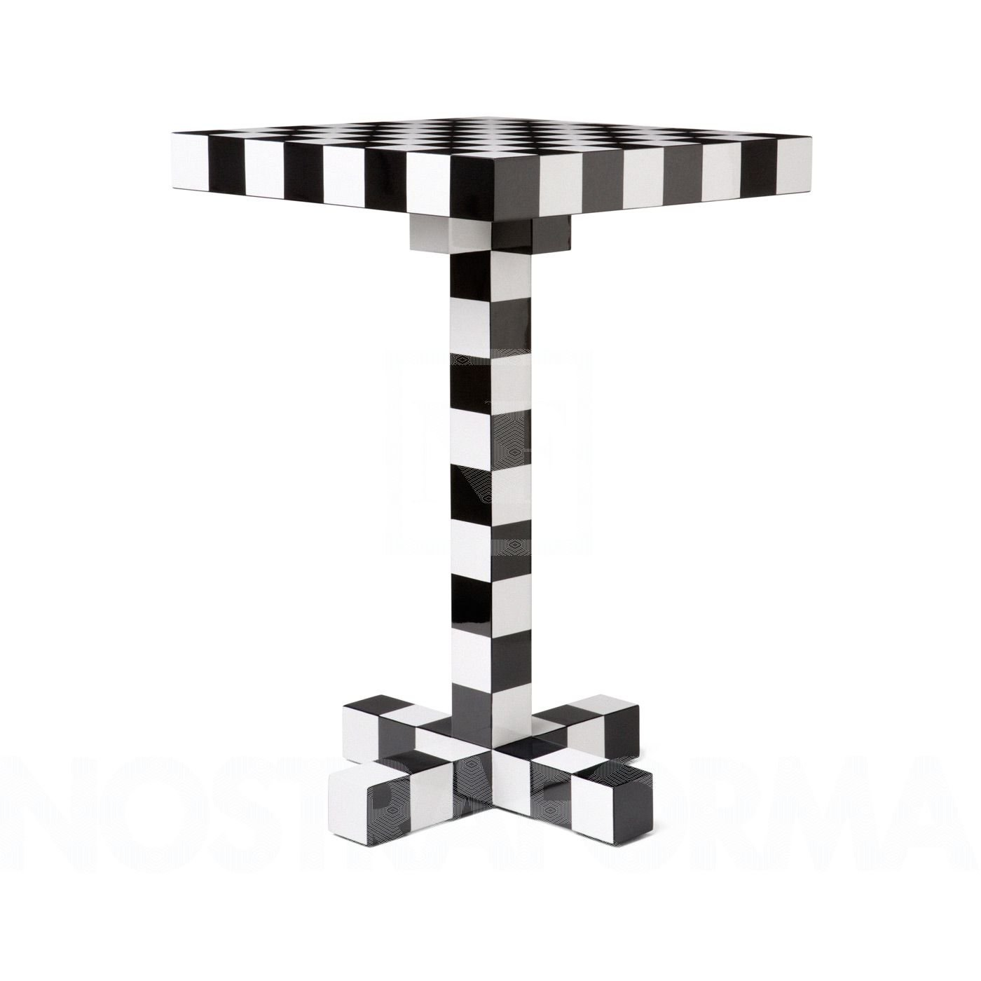 Moooi Chess Tisch, schwarz weiß 40x40x60cm