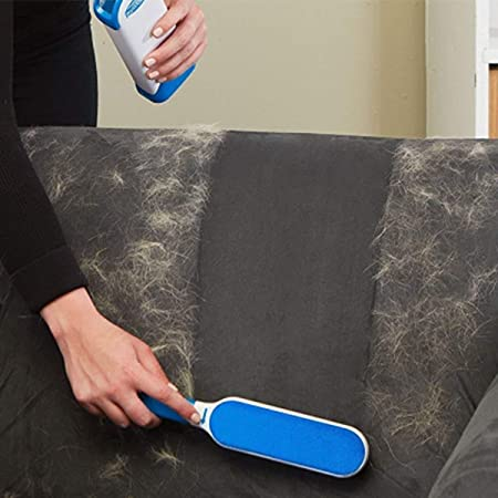 Sevia Fur Lint Remover, Pet Brush with Self-Cleaning Base, Double Size Hair Cleaner for Cat Dog