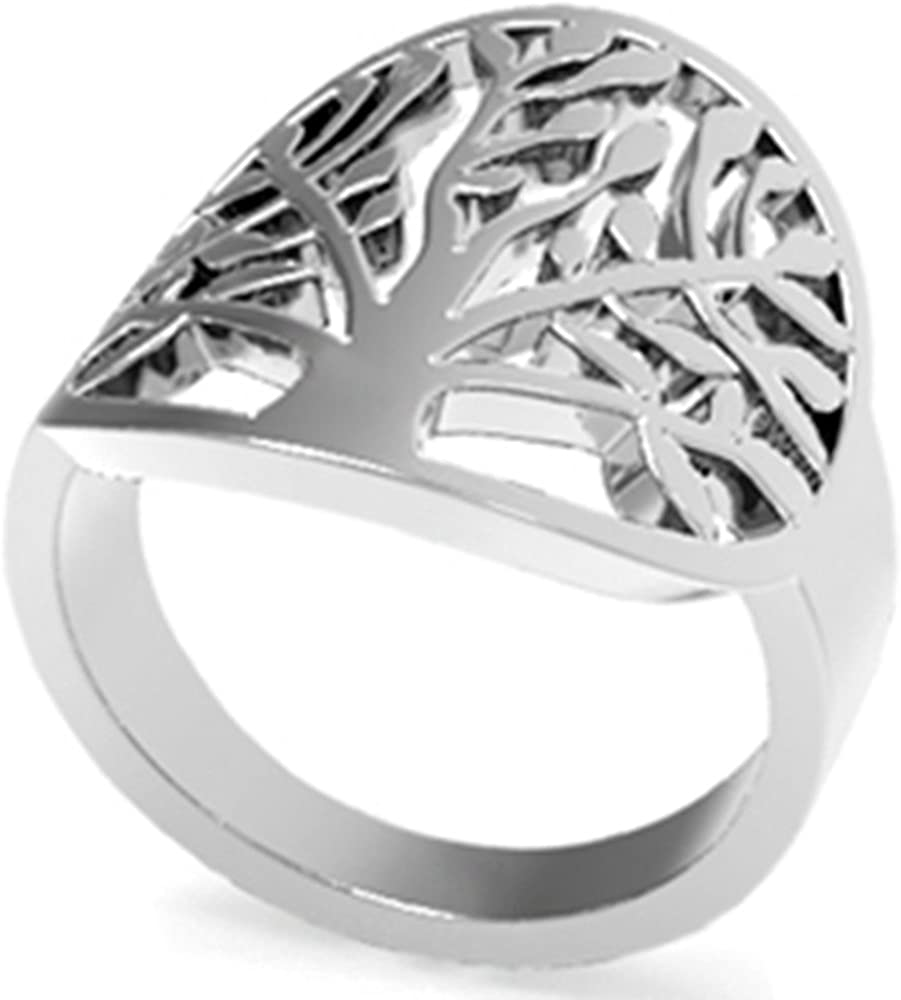 Jude Jewelers Stainless Steel Tree of Life Ring Statement Promise Anniversary Cocktail Party