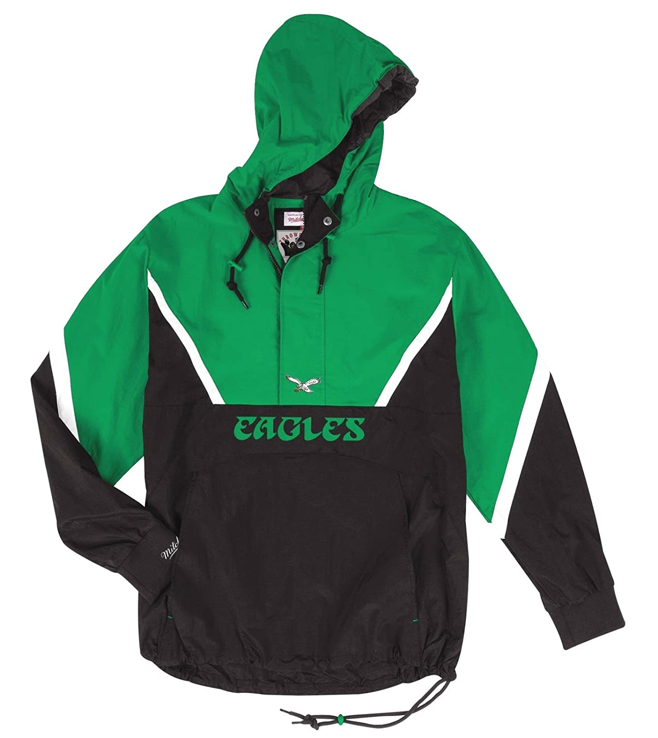 a744af5556f Mitchell ness philadelphia eagles mens anorak zip pullover jacket sports  outdoors jpg 1337x1500 Mitchell eagles jacket