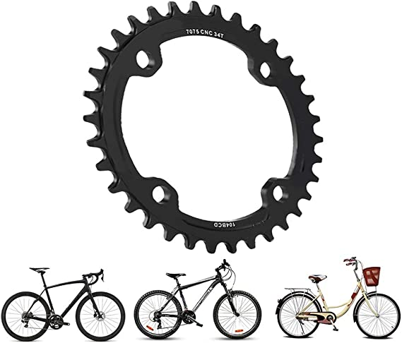 32//34//36//38T BCD 104 Mountain Bike Single Speed Chainring Suitable for Road Bike Mountain Bike Dioche Bike Chainring