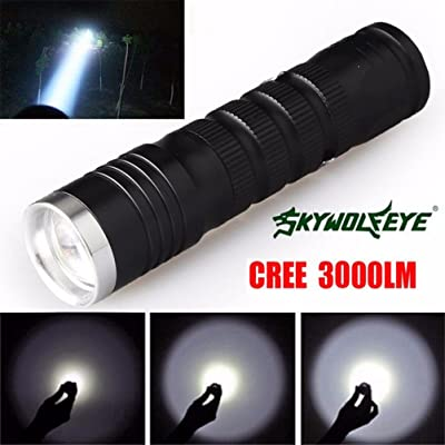 MuSheng(TM) 3000 Lumens 3 Modes CREE XML T6 LED 14500/AA Flashlight Torch Lamp Powerful
