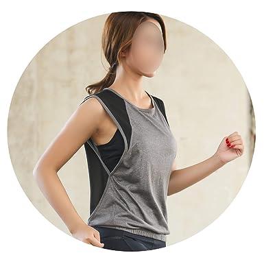 c6e410d0 Women Yoga Tank Top Shirts Sleeveless Off Shoulder Sports T Shirt ...