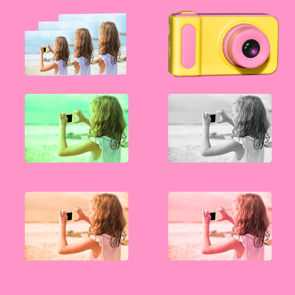 WIKI Birthday Presents Gifts for 3-8 Year Old Girls, Digital Camera for Kids Cool Toys for 3-8 Year Old Girls Outdoor Toys Age 3-8 Pink WKUSZXJ02 by WIKI (Image #5)