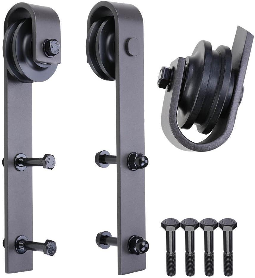 SDH-R230-02 Sliding Barn Door Hardware Antique Style Roller-Black PENSON /& CO 2 Pack