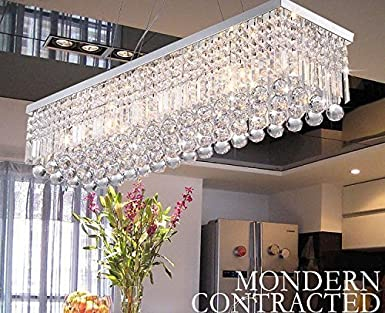 Dst modern luxury rain drop rectangle clear k9 crystal chandelier dst modern luxury rain drop rectangle clear k9 crystal chandelier ceiling lights with 5 lights for aloadofball Gallery