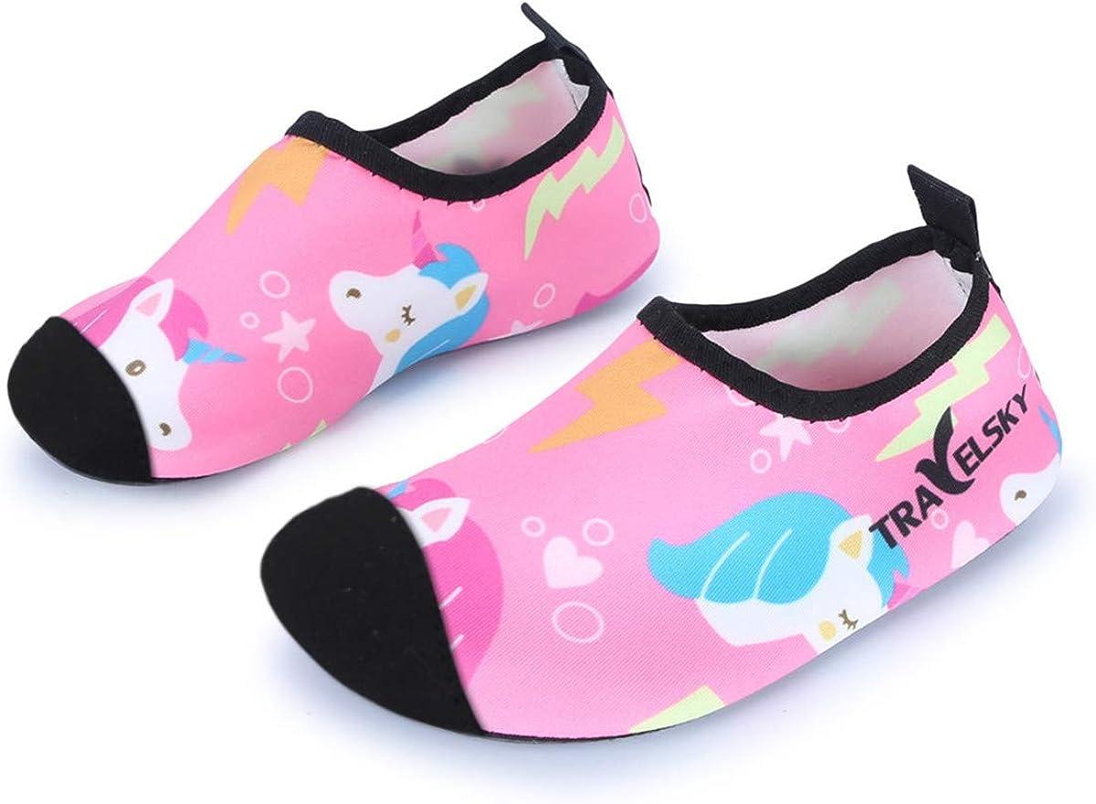 JOINFREE Zapatillas de Agua para niños niñas Escarpines de Verano Zapatillas de Playa Piscina Surf Water Shoes