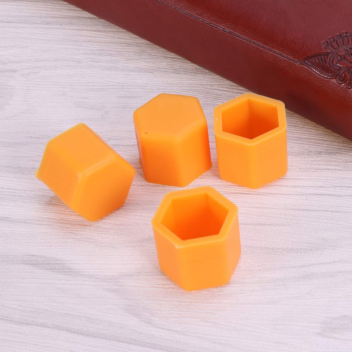 Garneck 20 pezzi esagonali coprimozzo esagonali universali coperture dado protezioni dado bulloni coperture vite proteggere cappucci per auto auto arancione