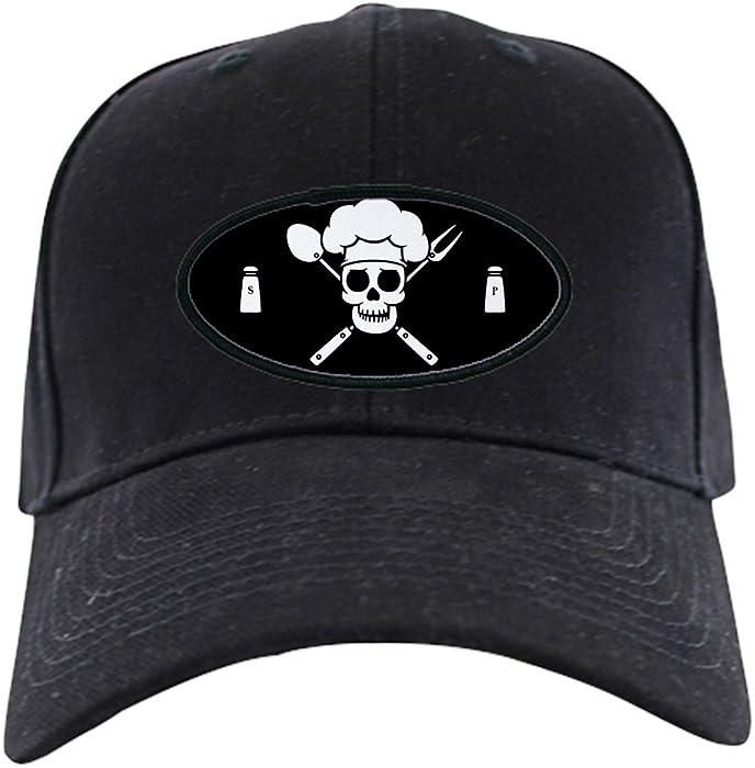 c8e8c0cd9 Amazon.com: CafePress - Chef Pirate - Baseball Hat, Novelty Black ...