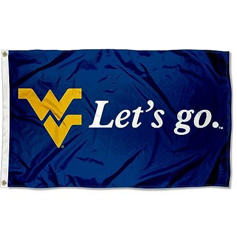 Perfect Amazon.com : West Virginia Mountaineers Let's Go Flag : Sports  IM24