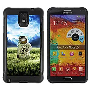 Hybrid Anti-Shock Defend Case for Samsung Galaxy Note 3 / Astronaut On The Field