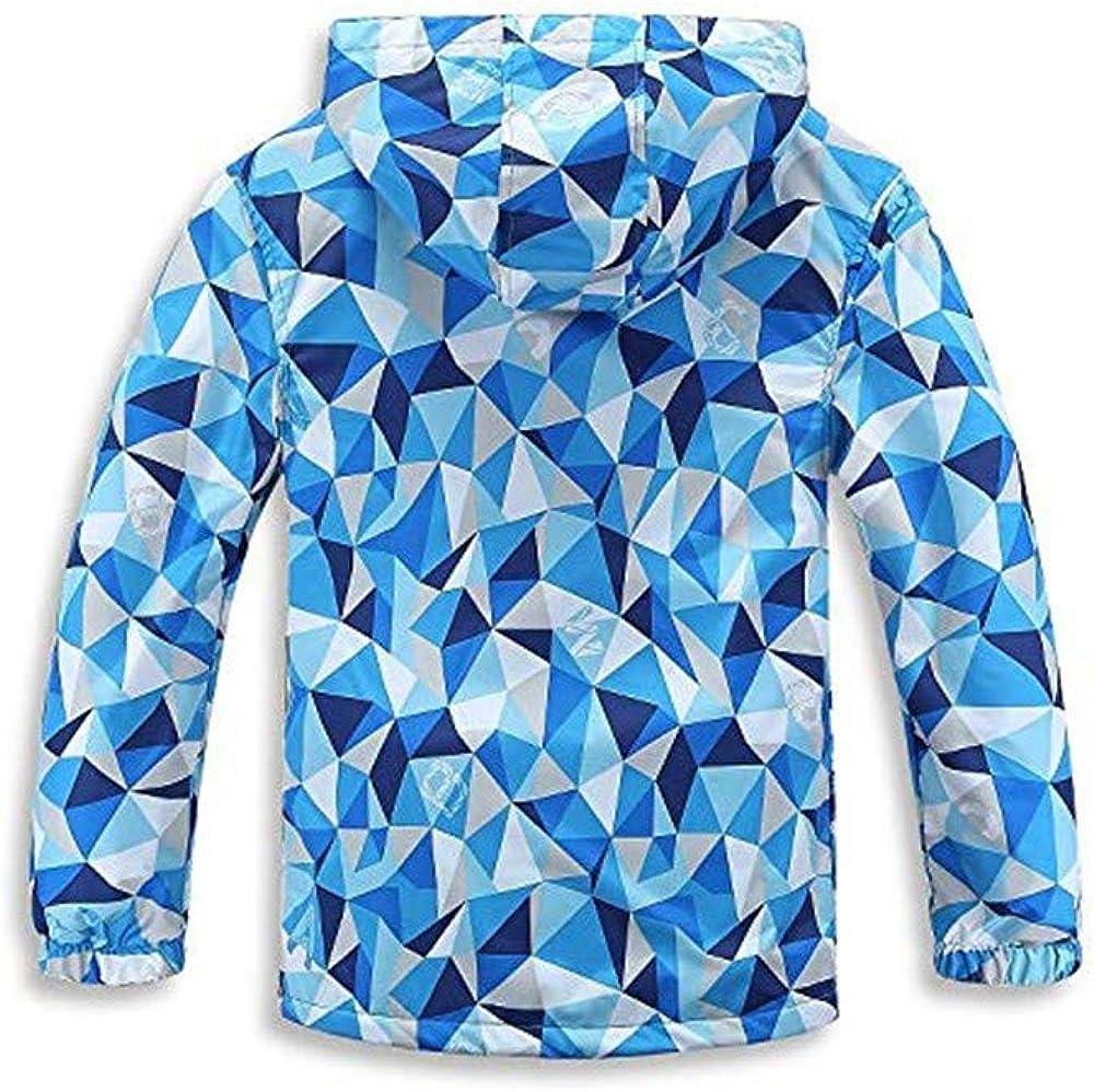 OUBAO Baby Coat Cute Design Childrens Long Sleeve Triangle Print Waterproof Warm Jacket Cotton Coat Jacket