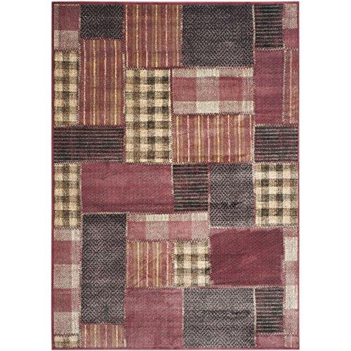 Rug Patch Vintage (Safavieh Vintage Premium Collection VTG107-2220 Patchwork Design Red and Multi Distressed Silky Viscose Area Rug (4' x 5'7