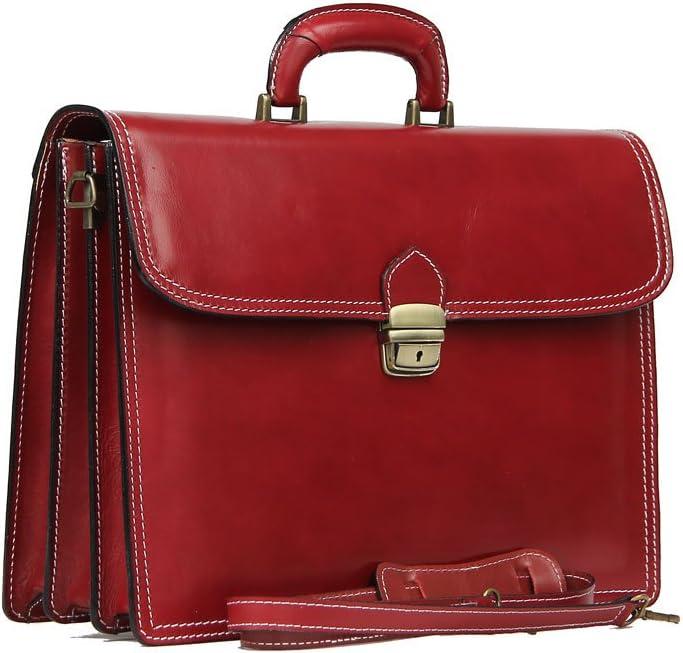 CTM Borsa Uomo 24 ore porta documenti Vera Pelle 100/% Made in Italy 41x31x18cm