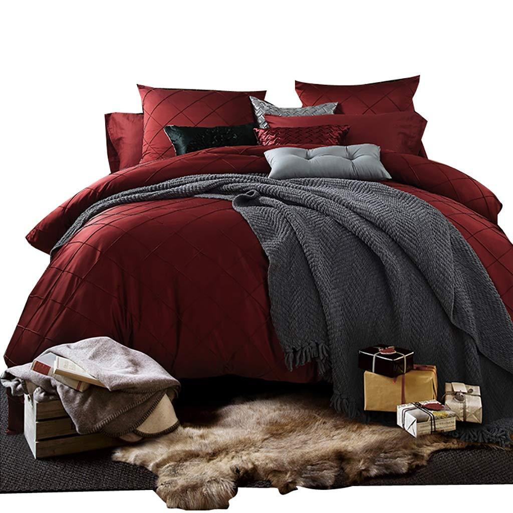 寝具カバーセット 4/6/8個セット赤の掛け布団カバーベッドシーツ枕カバークッションカバー小さな枕布団カバー結婚結婚祝い用ベッドセット寝具 (色 : 8 piece set, サイズ さいず : 2M bed) B07MHL3WY2 8 piece set 2M bed