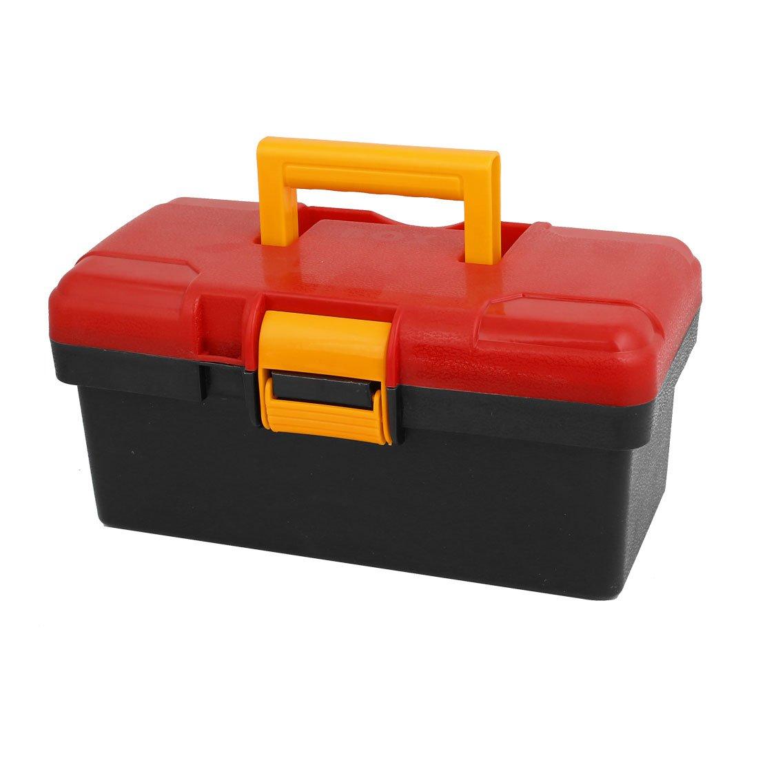 uxcell Universal Auto Car Truck Tool Storage Box Organizer Case Dual Layers Black