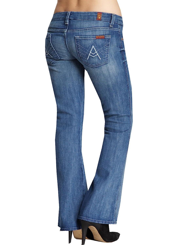 7 For All Mankind Womens A Pocket Flip Flop Flare Leg Denim Jeans 27 x 32