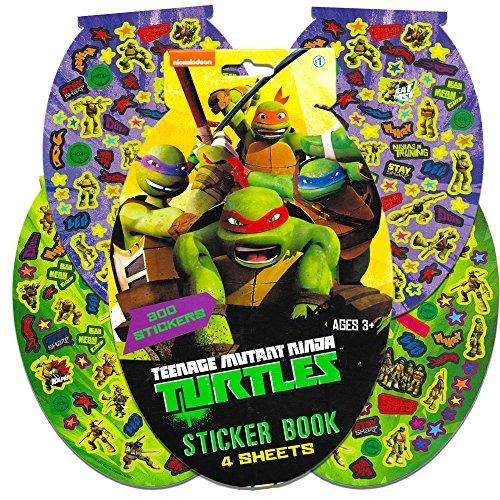 TMNT Teenage Mutant Ninja Turtles Sticker Pad- 276 Stickers! -