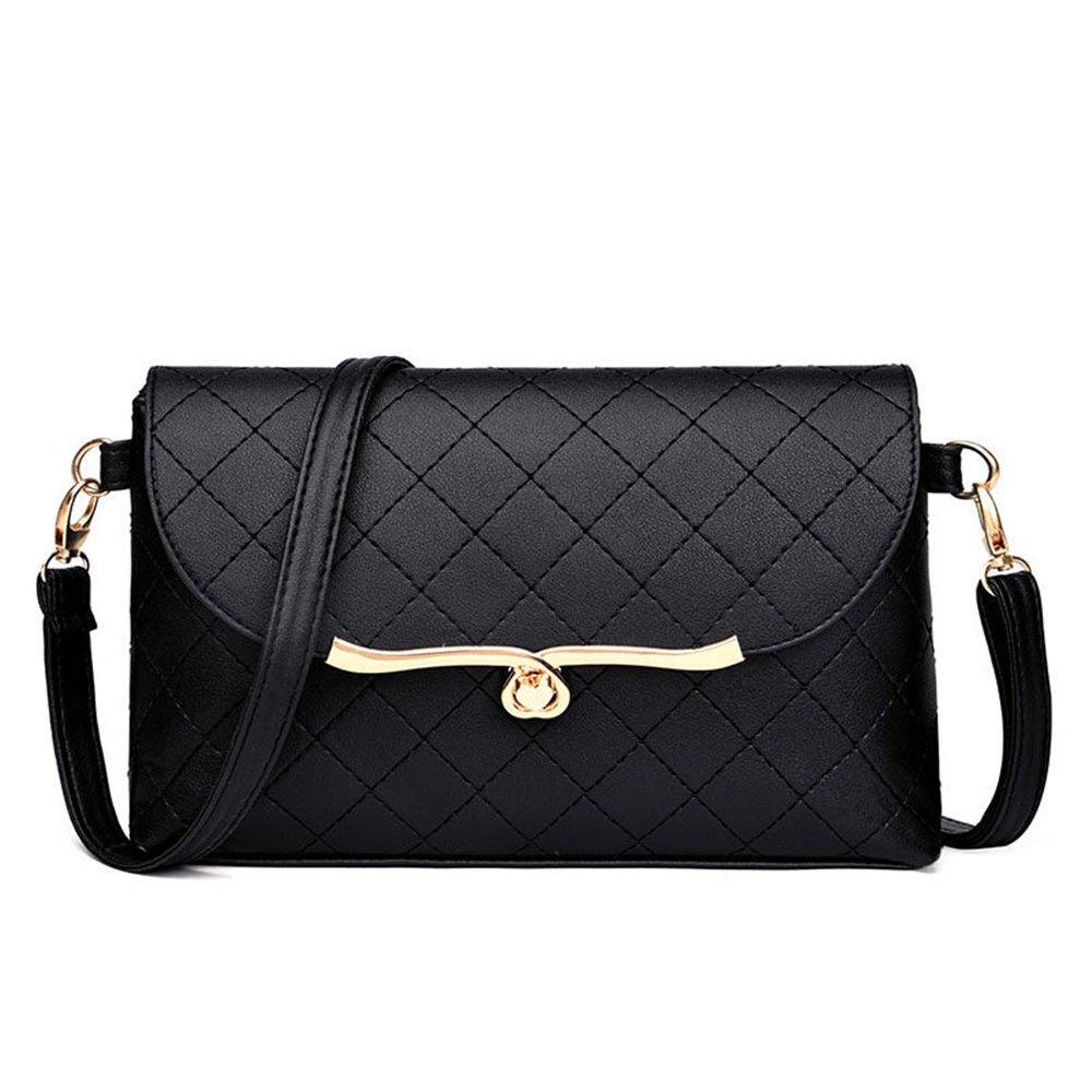 Slant Bag Soft Leather Bag Lady Handbag,Black,25X16X5Cm