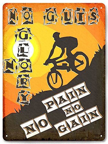 Mountain BIKE metal sign BICYCLE off road racing motivation gym vintage style wall decor art 565