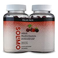 Amazon Brand - Solimo Adult Multivitamin, 300 Gummies, 150-Day Supply, 150 Count...