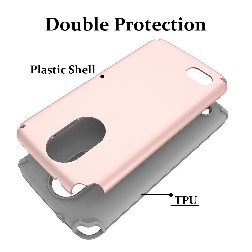 LG Stylo 3 Case, LG Stylo 3 Plus Case, MagicSky Slim Corner Protection Shock Absorption Hybrid Dual Layer Armor Defender Protective Case Cover for LG Stylo 3 / LG Stylo 3 Plus 2017 (Rose Gold)