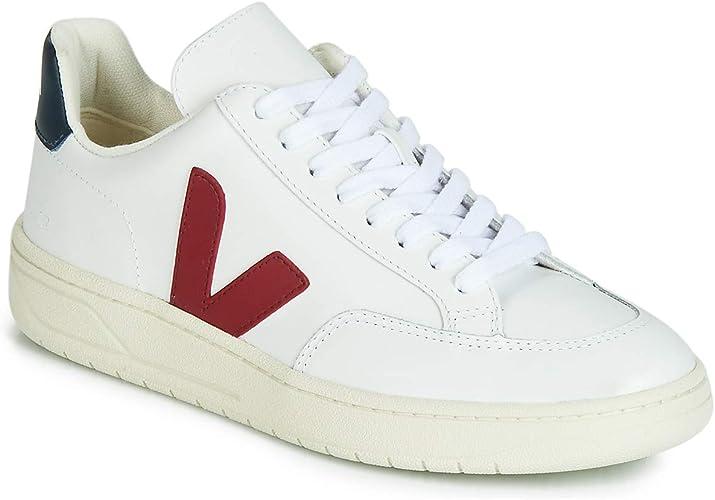 Veja V 12 Leather Baskets Mode Homme BlancBleuRouge