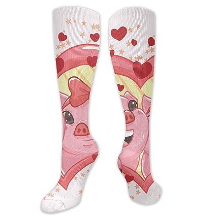 c499cd570a7 Amazon.com  RobotDayUpUP Creatures in Love Womens Long Socks