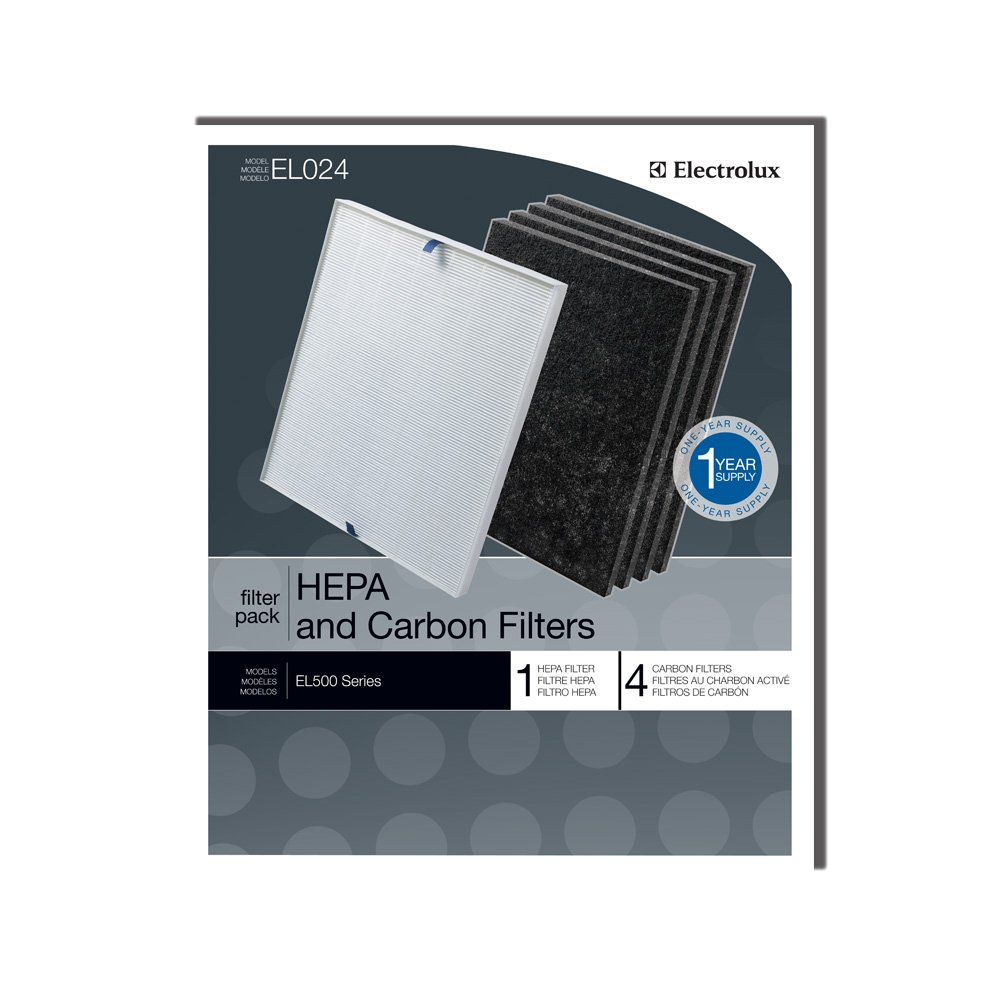Genuine Electrolux HEPA and Carbon Filters EL024 - 1 HEPA filter, 4 carbon filters by Electrolux