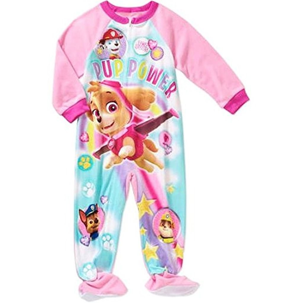 PAW Patrol Skye Girl's 4T Fleece Footed Blanket Pajama Sleeper