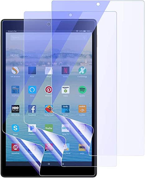 2 Pack Amazon Fire HD 10 7th Generation 2017 Tempered Glass Screen Protector