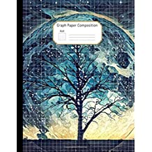 Graph Paper Composition Notebook: Grid Paper Journal: Large Size 8.5x11 Inches, Quad Ruled 4 Squares per Inch (4x4) Fantasy Landscape Illustration ... Science, Design, Writing Practice, Sketching