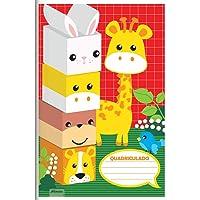 Caderno Quadriculado 1/4 1 x 1 cm 40 Folhas Brochura Flexível, Foroni 8912, Multicor, 20 unidades