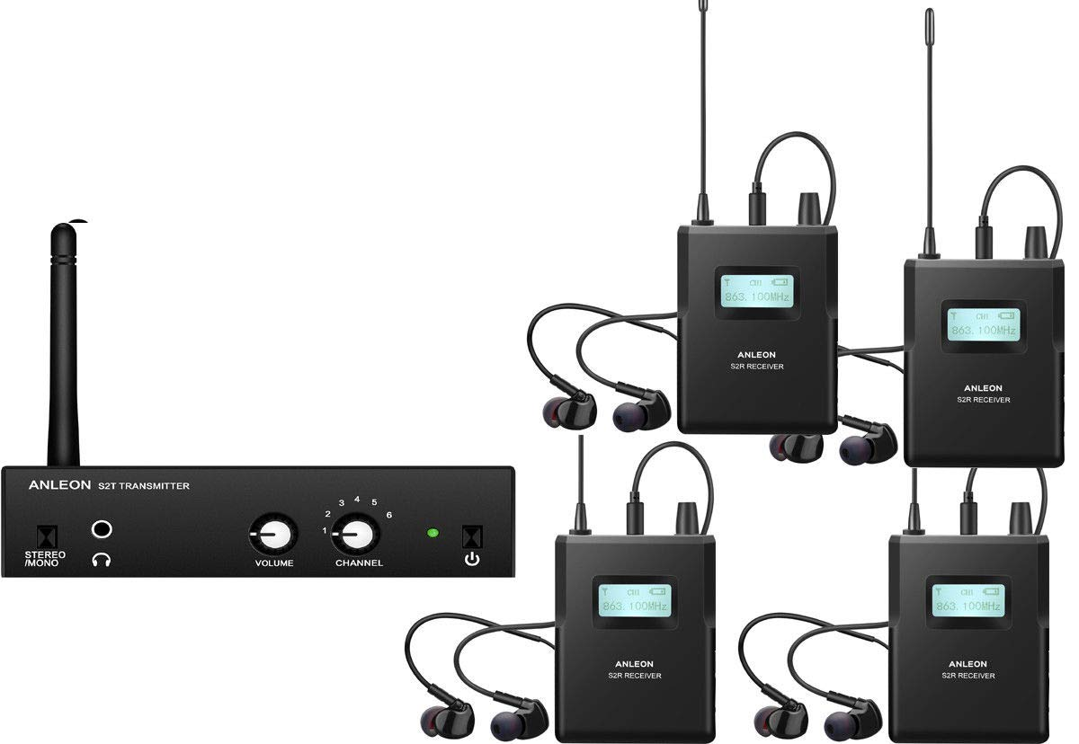 Anleon S2/wireless stereo In-Ear monitor System 1 Transmitter and 2 Receivers
