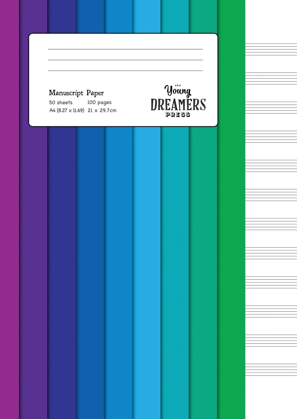 Manuscript Paper  Colour Spectrum   A4 Blank Sheet Music Notebook  Music Gifts And Composition Books Band 2