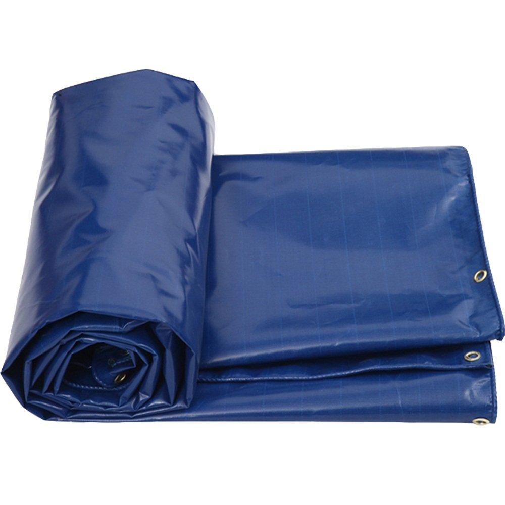 DNSJB Plane, doppelseitig wasserdicht, perforiert, passend für Zelte, Camping, Verschiedene Größen, blau, hochwertige Plane (größe   2M3M)
