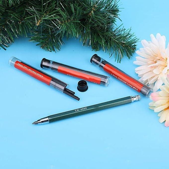 Portamine matita automatica matita per pittura automatica con nucleo in carboncino cancellabile da 4,0 mm set di matite da disegno professionale per larte