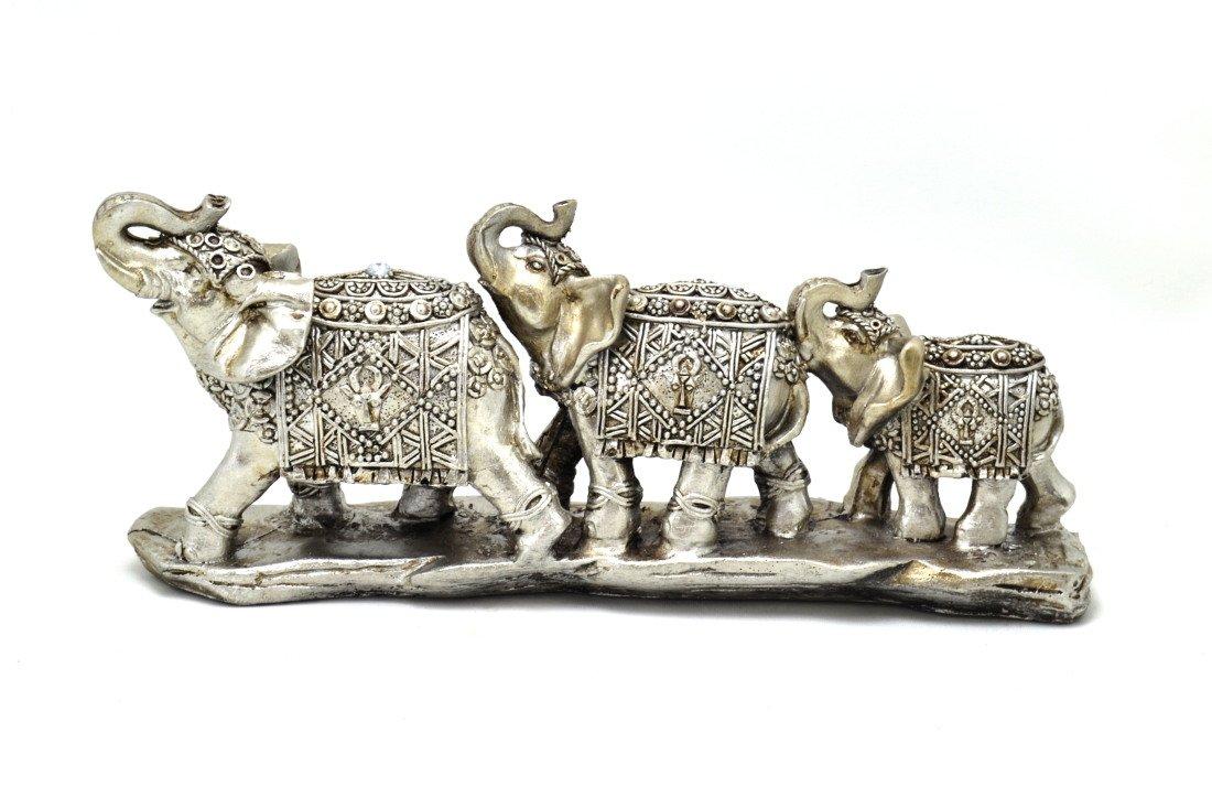 3 Elefanten Zen Buddha Garten Buddhistischer Garten Länge 24 CM Zen ...
