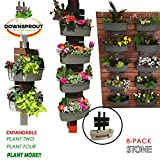 Downsprout Vertical Planter, Gutter Garden, Post Planter, Pergola Post Planter, Deck Planter, Living Wall (8)